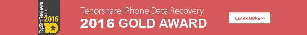 Tenorshare iPhone Data Recovery 2015 Gold Award