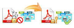 PDFの制限の除去