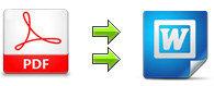 PDFをWordに変換する