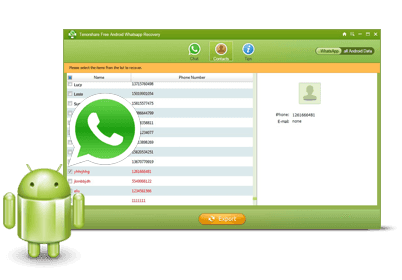 Tenorshare Free Android WhatsApp Recovery