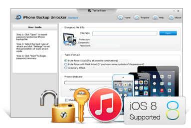 unlock iPhone backup password