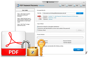 Tenorshare PDFパスワード回復