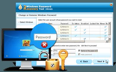 Outil de récupération de mot de passe de Windows Tenorshare