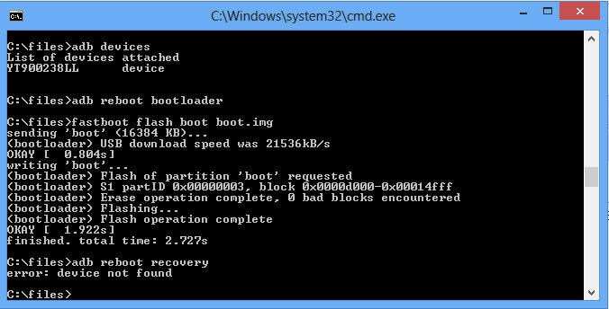 how to open terminal on adb