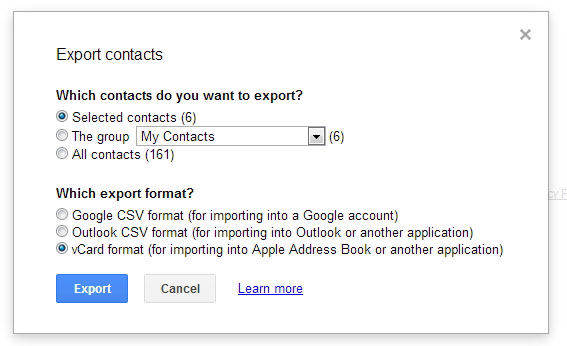 transfer gmail contacts to android