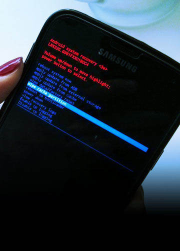 booting screen when android device is on factory reset