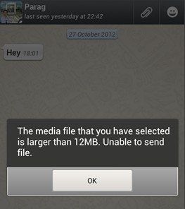 how to send large video files on whatsapp android