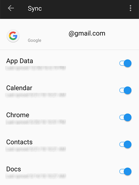enable contacts sync