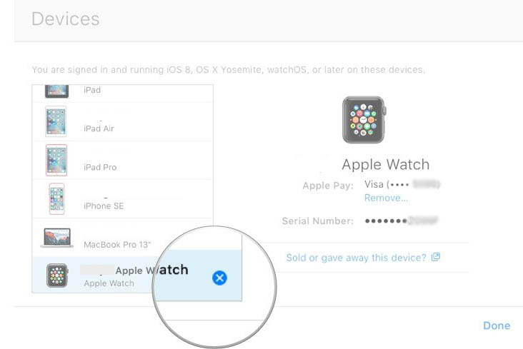 turn off activation lock on apple watch via icloud remove