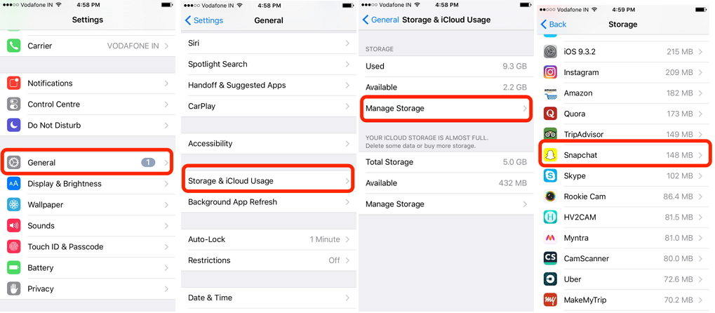 How to permanently clear snapchat storage space on iphone clear snapchat history ccuart Choice Image