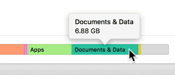 documents and data on iphone storage