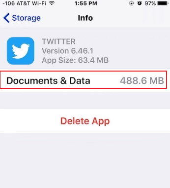 documents & data on iphone