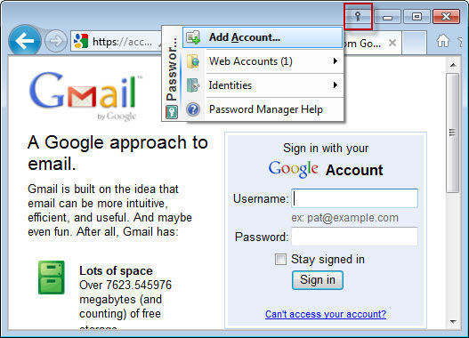 open gmail and login