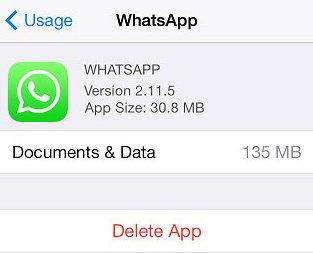 whatsapp cache