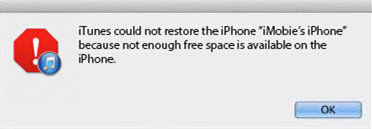 itunes failed to restore iphone
