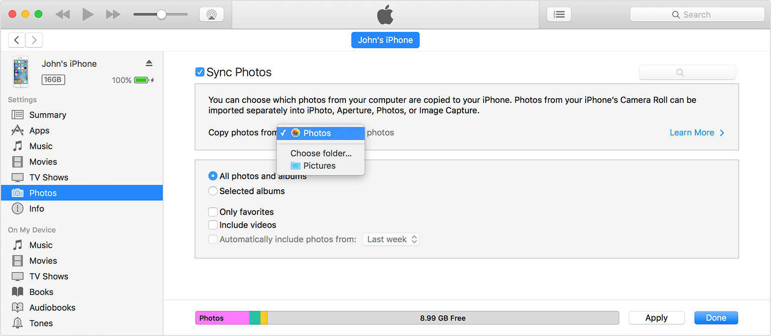 automatically download iphone photos to iphoto