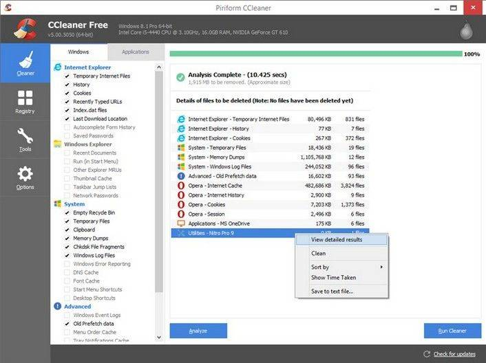 Download CCleaner - Windows 10 version. Free Latest ...