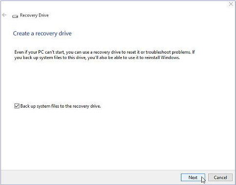 create a bootable usb recovery drive for windows 10