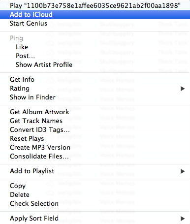 how to put songs on icloud