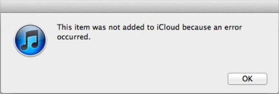 Fix iCloud Error in iTunes Match: This item was not added ...