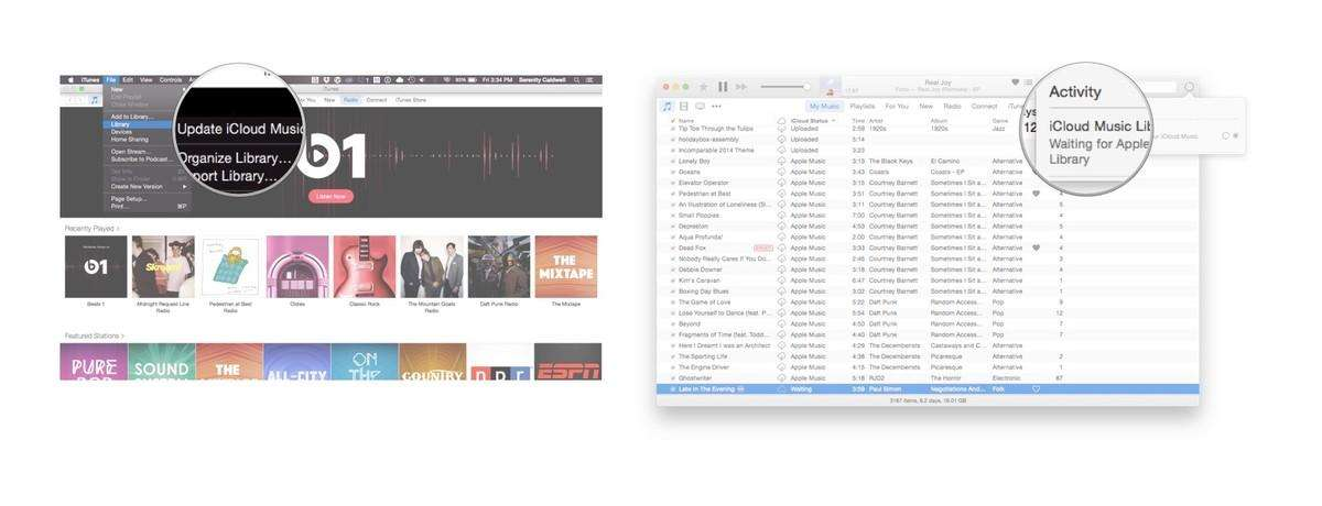 updating icloud music library