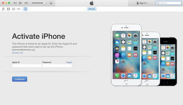 reactivate iphone with itunes