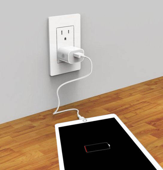 change wall outlet