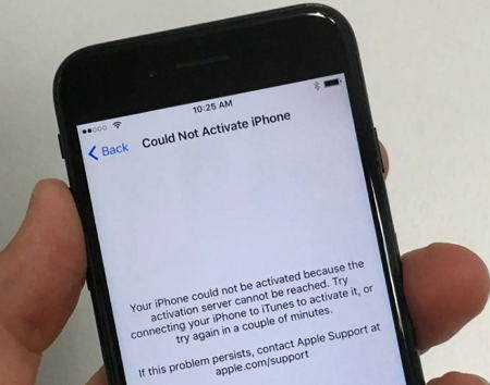 cannot activate iphone after ios 11 update