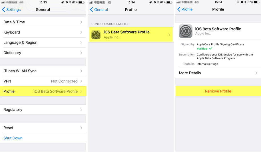 Remove Ios Profile From Iphone