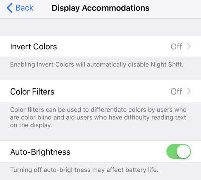 disable auto brightness