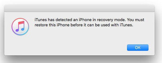 itunes has detected iphone in recovery mode