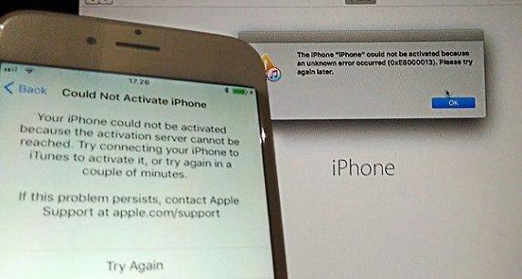 could not activate iphone solved ios 11 iphone activation error 0xe8000013 with itunes 13896