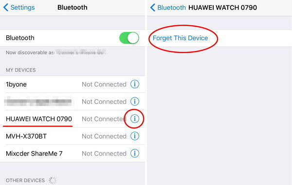 re pair bluetooth on iphone