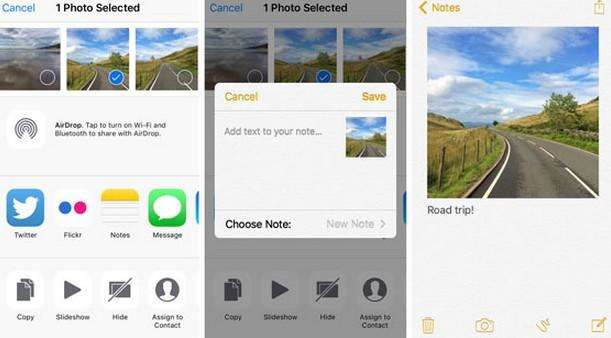 how to use ios 9 notes app new features