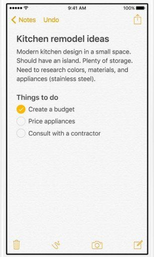 how to use the new features in ios 9 notes app