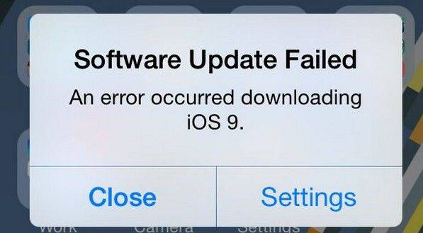 ios 9 upgrade failed problem and solution to fix it