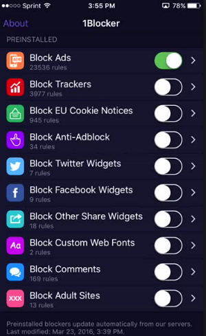 crystal ad blocker for iPhone and iPad