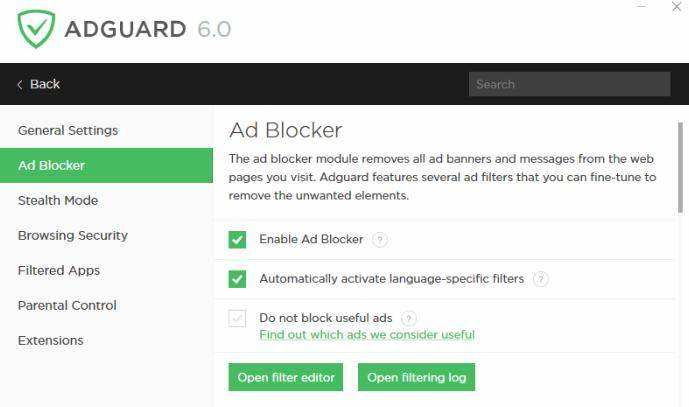 1blocker ad blocker ios 9 customize menu