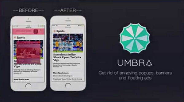 before and after umbra ad blocker