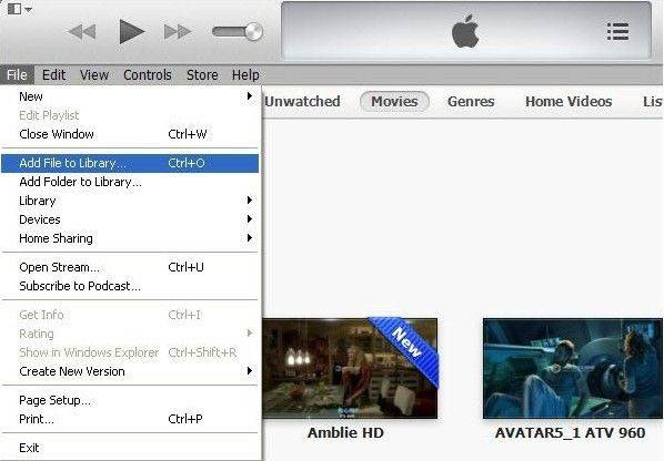 import videos to itunes