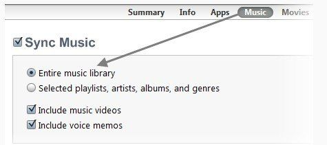 songs in itunes won't copy to ipod