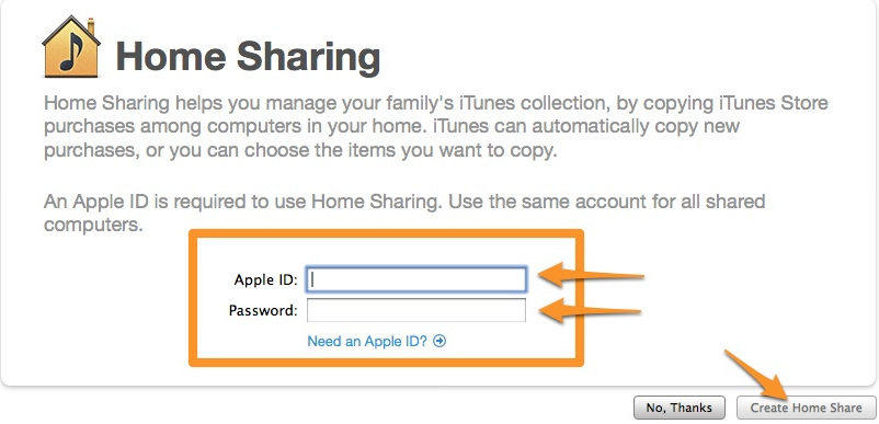 create home share