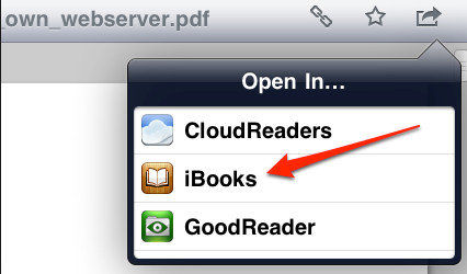 transfer files from ibook to Dropbox