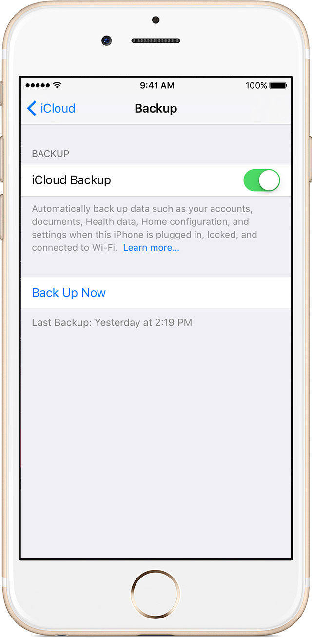 Top 2 ways to import health app data to your new iphone icloud backup setting ccuart Image collections