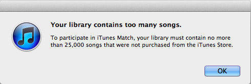 itunes library notice
