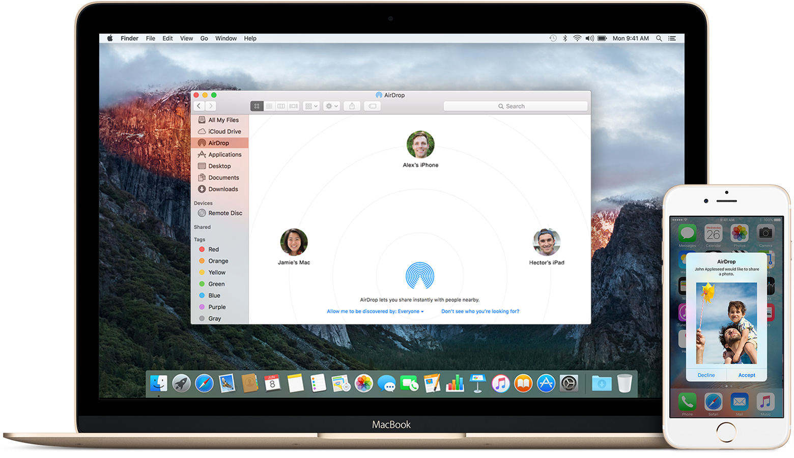 share videos from Mac AirDrop to iPhone