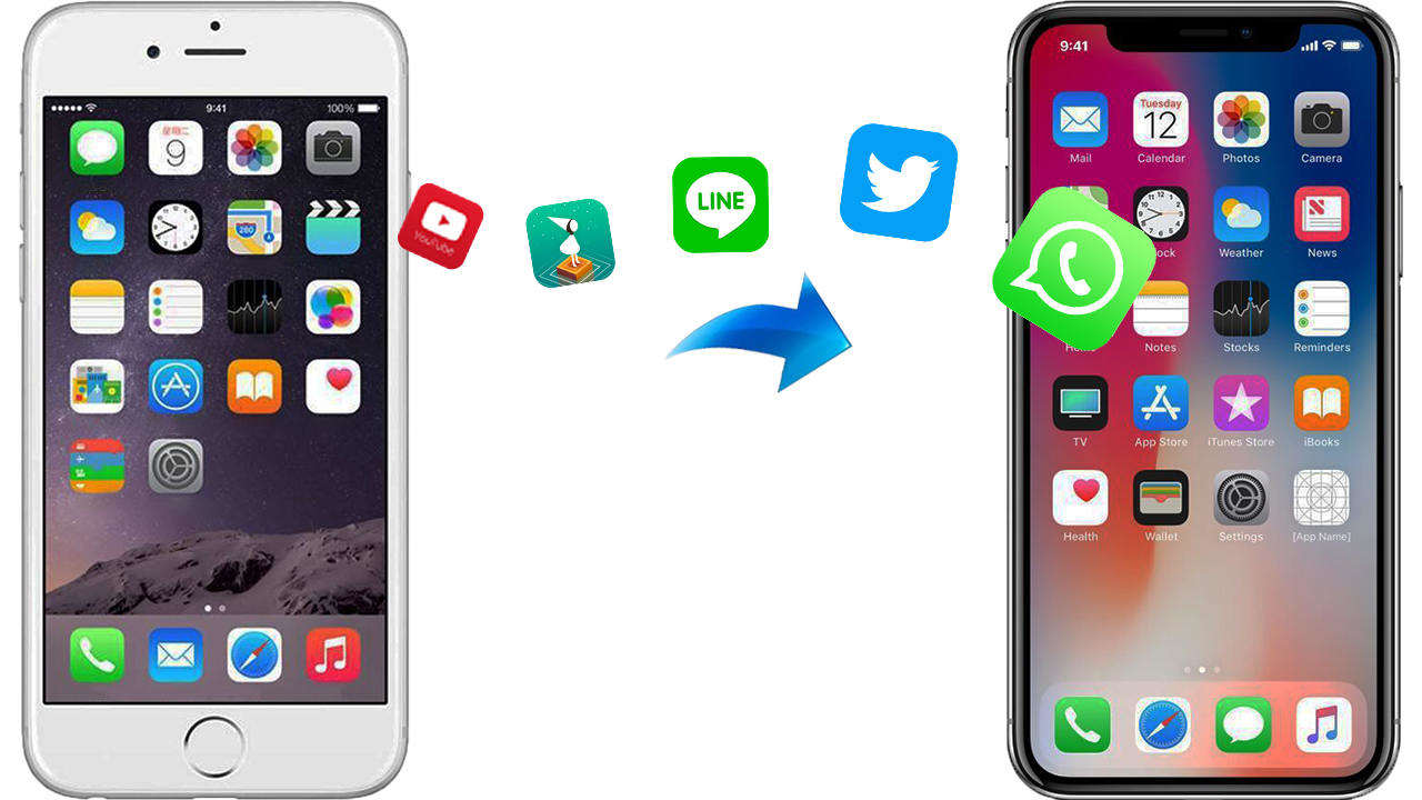 transfer old iphone apps data to a new iphone
