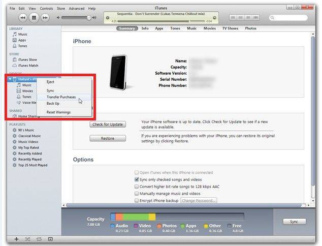 sync iphone with a new computer