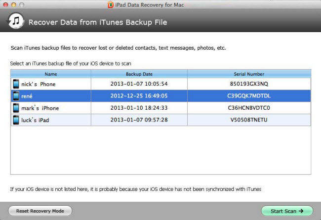 how to recover ipad air data on mac