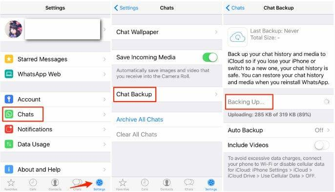 back up whatsapp data